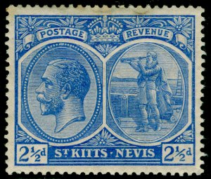 ST KITTS-NEVIS SG28, 2½d ultramarine, M MINT. WMK MULT CA