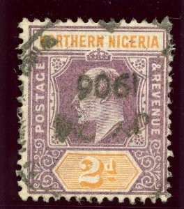 Northern Nigeria 1905 KEVII 2d dull purple & yellow (O) very fine used. SG 22.