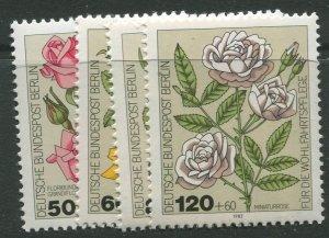 STAMP STATION PERTH Germany #9NB193-196 Flower Type 1982- Set - MNH