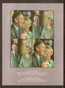 GB 2005 Royal Wedding Min.Sheet MNH MS2531