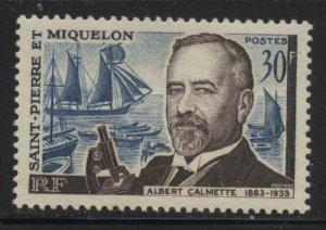 St Pierre & Miquelon 1963 Albert Calmette Sc# 366 mint