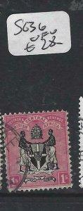 BRITISH CENTRAL AFRICA  (P0207B) 1/-   SG 36     VFU