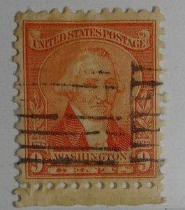 #714 – 1932 Washington Bicentennial: 9c Washington
