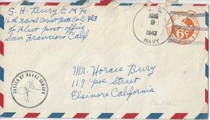 US Navy  Sailor Mail 16th Naval Construction Battalion 1943 FPO San Francisco