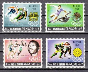 Ras Al Khaima, Mi cat. 312-315 A. Summer & Winter Olympics issue.