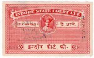 (I.B) India (Princely States) Revenue : Indore Court Fee 6a
