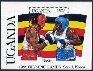 Uganda 558,MNH.Michel 538 Bl.70. Olympics Seoul-1988.Boxing.