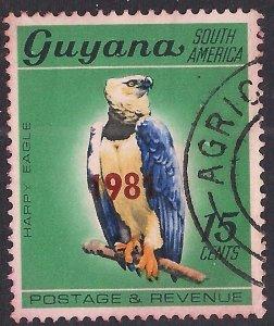 Guyana 1968 QE2 15ct Harpy Eagle Used SG 454 ( F408 )