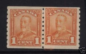 Canada #160i VF Mint Paste Up Pair