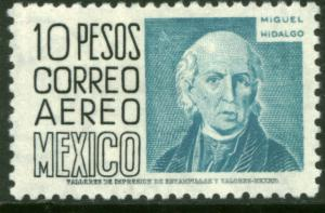MEXICO C216, $10P 1950 DEFINITIVE 2nd ISSUE, WMK 300 HORIZ. MINT, NH. F-VF.