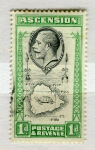 ASCENSION; 1934 early GV pictorial issue fine used 1d. value