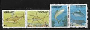 MICRONESIA,77-80,  MNH, SHARKS
