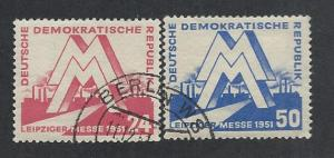 GERMANY - DDR SC# 78-9 FVF/CTO 1951
