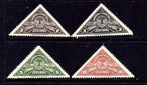 Costa Rica 179-82 NH 1937 set