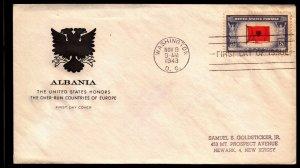 Scott 918 5 Cents Albania House of Farnum FDC Typed Address  Planty 918-4