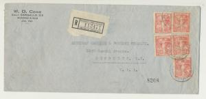 ARGENTINA 1922 (9-11) UPU PAN AMERICAN CONGRESS REG COVER TO USA (SEE BELOW)