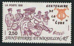 St Pierre & Miquelon 569,MNH.Michel 620. Lyre Music Society,Centenary,1991.