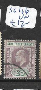 MALAYA STRAITS SETTLEMENTS  (P0807B)  KE 25C  SG 116   VFU