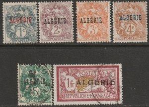 Algeria 1-4,6,18 mix MH DG/used