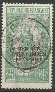 Middle Congo, 1924, used 25fr, Overprinted Scott