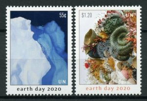 United Nations UN New York NY Art Stamps 2020 MNH Earth Day Cultures 2v Set