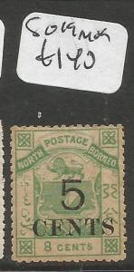 North Borneo SG 19 MOG (9clr)