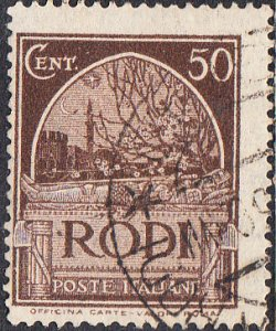 Italy - Rhodes #20  Used