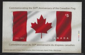 Canada, 2808, Flag - 50th Anniversary Fabric S/S, MNH
