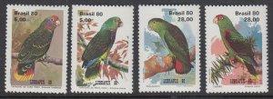 Brazil 1715-8 Parrots mnh