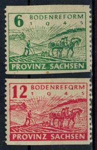Germany - Russian Zone - Saxony - Scott 13N13-13N14 MH