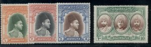 PAKISTAN-BAHAWALPUR #12-15, High values in set, og, NH, VF, Scott $170.00