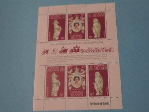 Cayman Islands - 404, MNH Sheet Set. Elizabeth II Coronation Anniversary