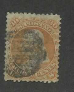 1861 US Stamp #71 30c Used Canceled Average Miss Perf Catalogue Value $200