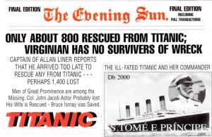St.Thomas & Prince 1998 TITANIC SS MNH Mi.# Block 376