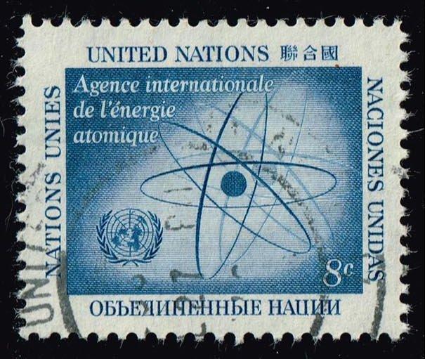 UN New York #60 Atom; Used (0.25)