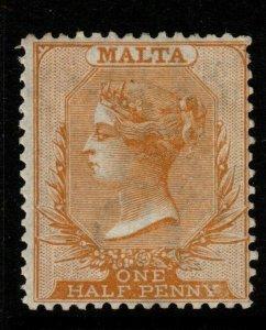 MALTA SG8 1872 ½d ORANGE-BUFF MTD MINT