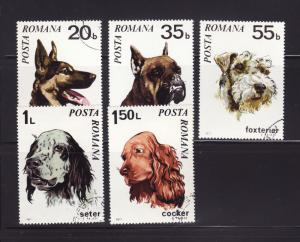 Romania 2227-2231 U Animals, Dogs (A)
