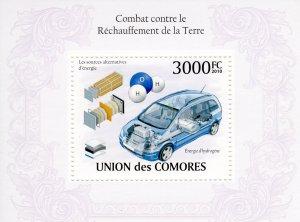COMORO ISLANDS 2010 YT#Bl.254 ELECTRIC CAR  Souvenir Sheet (1) MNH