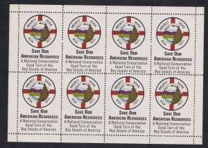 Scouting - Project Soar, Sheet of 8 Labels