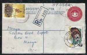 LESOTHO  (PP0310B) 1971   10C RLE+4C+4C MOKHOTLONG TO MORIJA