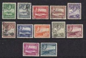 Antigua 1938-1951 SC 84-95 Used SCV$ 131.00 Set