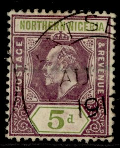 NORTHERN NIGERIA EDVII SG34, 5d dull purple & olive-green, USED. Cat £19.