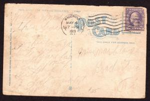 $Florida Machine Cancel Cover, Wauchula, 5/4/1919, earliest recorded impression
