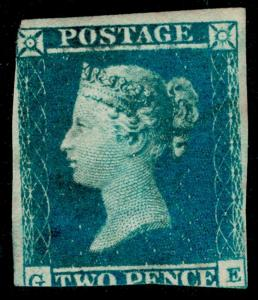 SG14, SCARCE 2d blue, LH MINT. Cat £6000. GE
