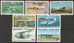 French Polynesia 1979-80 Sc C172/83 air post partial sets MNG