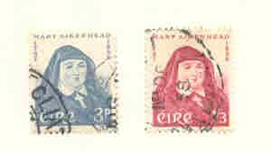 Ireland Sc 167-8 1958 Mother Mary Aikenhead stamp set used