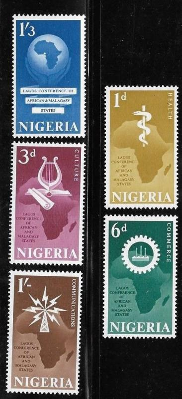 Nigeria 1962 Conference head of government Map Sc 123-127 MNH A430