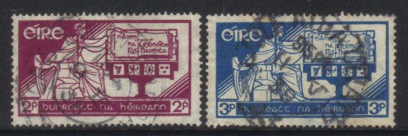 IRELAND 1937 CONSTITUTION DAY USED SET OF 2