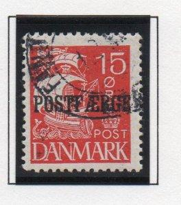 Denmark Sc Q12 1927 15 ore red Caravel Postfaerge stamp used