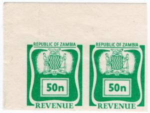 (I.B) Zambia Revenue : Duty 50n (printer's proofs)